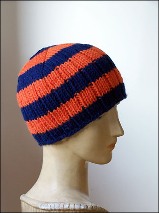 Free Knitting Patterns Ribbed Hat Pattern Chic Knits The Player