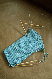 Knitting Tips: How to Join Sweater Pieces to Knit in the Round with Two Circular Needles I