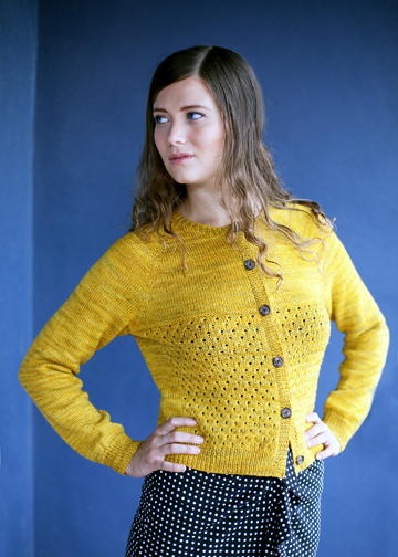 Top-down Lace Cardigan Knitting Pattern - Sock Yarn Sweater ...