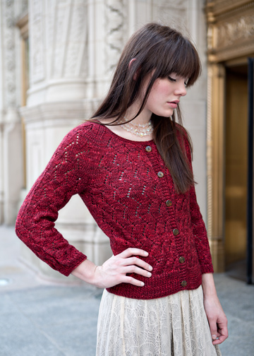 Lace Sweater Knitting Pattern : Simple Lace Knitting Pattern - Lace Cardigan Pattern - Chic Knits Derica Kane...