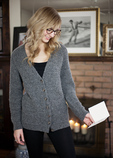 Knitting Pattern Boyfriend Jumper : Top Down Sweater Pattern - Boyfriend Cardigan Knitting Pattern - Chic Knits H...