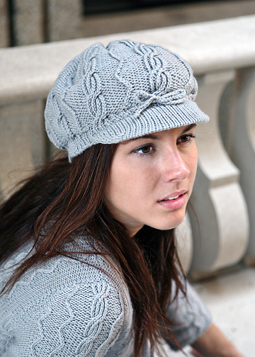 Newsboy Cap Pattern Cabled Hat Knitting Pattern Chic Knits