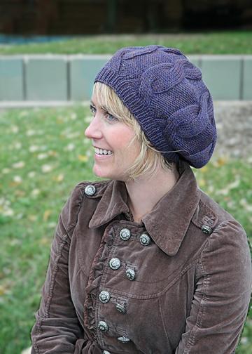 Easy Cabled Hat Knitting Pattern Slouchy Cabled Cap Chic Knits