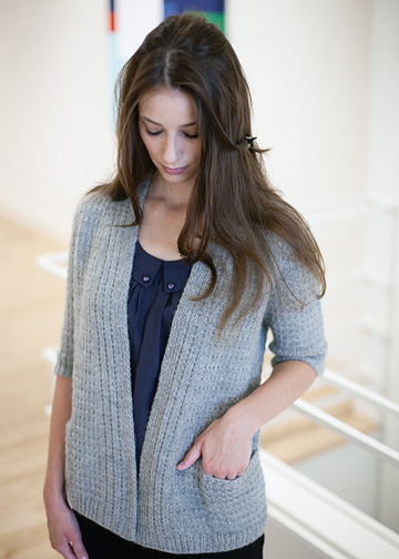 Modern Cardigan Knitting Patterns : Modern Cardigan Knitting Pattern - Textured Flyaway Cardigan Pattern - Chic K...