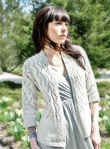 Simple Lace Knitting Pattern - Lace Cardigan Pattern - Chic Knits ...