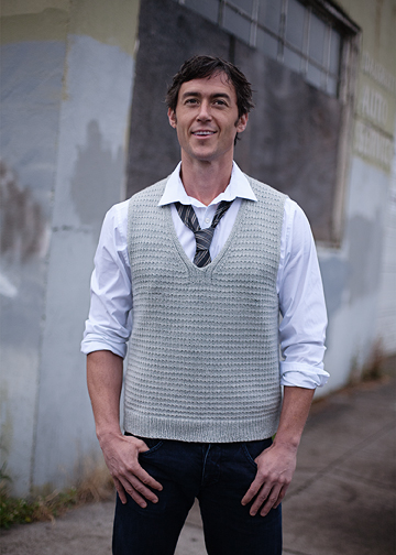 Easy Vest Knitting Pattern Mans Vest Pattern Chic Knits My Guy