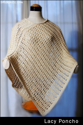 Knitting Pattern For Lace Poncho : Lace Poncho Knitting Pattern - Eacy Lace Poncho - Downloadable Knitting Patte...
