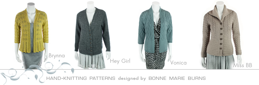 Knitting Patterns by Bonne Marie Burns of Chic Knits