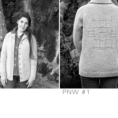 Chic Knits PNW #1 Cardigan Knitting Pattern