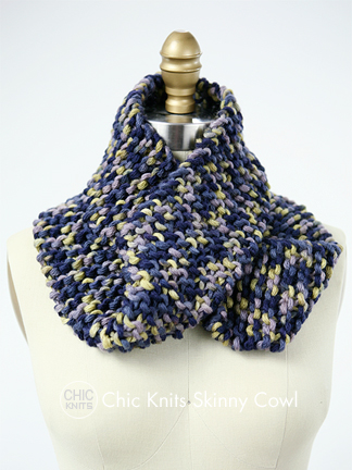 Free Cowl Knitting Pattern Skinny Cowl By Bonne Marie Burns Chic