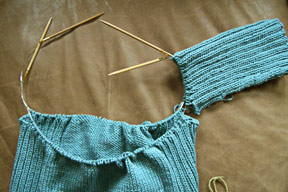 Knitting Tips: How to Join Sweater Pieces to Knit in the Round with Two Circular Needles II